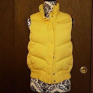 Yellow Gap vest.